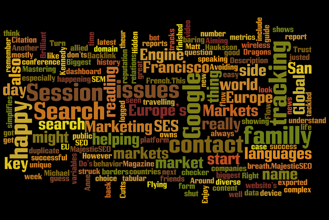 Optimize Your Weba as a word-cloud