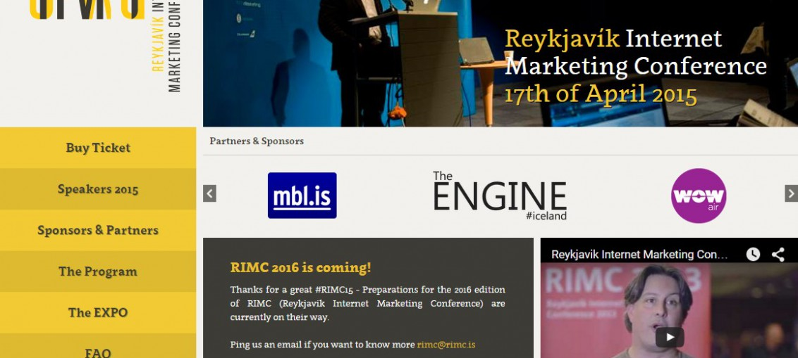 RIMC 2015 Reykjavik Internet Marketing Conference #RIMC15